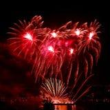 Celebratory bright firework Stock Photo