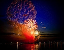Celebratory bright firework in sky Royalty Free Stock Photo