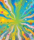 Celebratory burst background with stars Stock Images