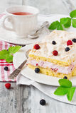 Celebratory cake with berries Royalty Free Stock Photography