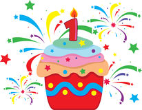 Celebratory cake vector illustration