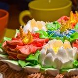 Celebratory cake and cup Stock Photos