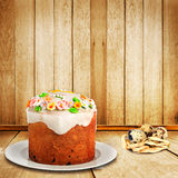 Celebratory cake and quail eggs Royalty Free Stock Photo