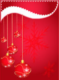 Celebratory card. Design of the New Year's form. Christmas evening Stock Photo