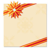 Celebratory card decoration Royalty Free Stock Photos