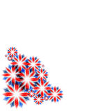 Celebratory card with england flag colors Royalty Free Stock Photos