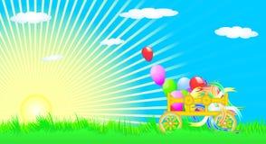 Celebratory Cart On A Green Meadow