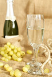 Celebratory champagne with glasses Royalty Free Stock Image