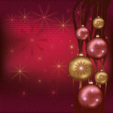 Celebratory Christmas background red Stock Image