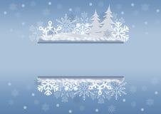 Celebratory Christmas border royalty free stock photography