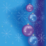 Celebratory Christmas and New year background. Bright celebratory background for New year and Christmas with christmas-tree toys and decorations. Vector royalty free illustration