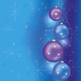 Celebratory Christmas and New year background. Blue Christmas and New Year background with Christmas decorations. Vector illustration Stock Image