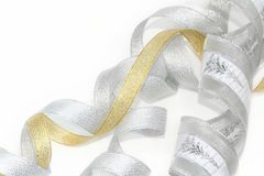 Celebratory / Christmas ribbon Royalty Free Stock Photo