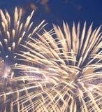 Celebratory colorful fireworks Royalty Free Stock Photo