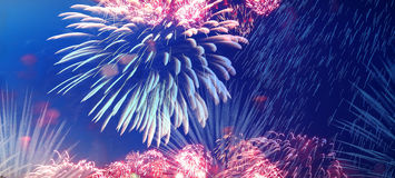 Celebratory colorful fireworks Stock Images