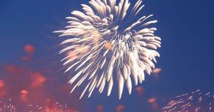 Celebratory colorful fireworks Stock Photo
