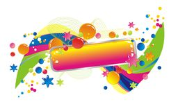 Celebratory colour decoration frame Royalty Free Stock Images
