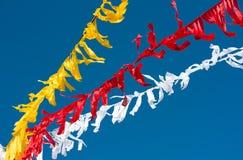 Celebratory colour tapes Stock Image