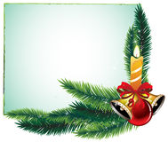 Celebratory composition. Garland of spruce branches and decorations Royalty Free Stock Image