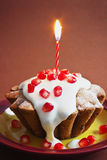 Celebratory cupcake Royalty Free Stock Images
