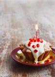 Celebratory cupcake Royalty Free Stock Photos