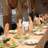 celebratory dekorerad tabell Royaltyfria Bilder
