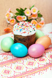 Celebratory Easter bread Stock Images