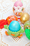 Celebratory Easter eggs stock images
