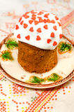Christ has arisen! Easter - sweet cake royalty free stock image
