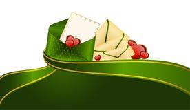 Celebratory Envelope With Hearts Royalty Free Stock Photo