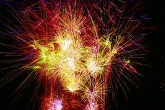 Celebratory firework stock image