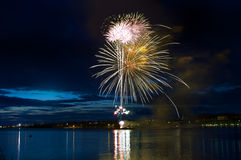 Celebratory firework royalty free stock photo