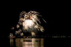 Celebratory firework stock photo