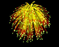 Celebratory firework. In dark sky Royalty Free Stock Photography