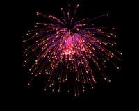 Celebratory firework. In dark sky Stock Images