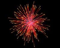 Celebratory firework. In dark sky Royalty Free Stock Image