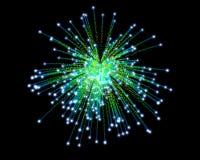 Celebratory firework. In dark sky Royalty Free Stock Photos