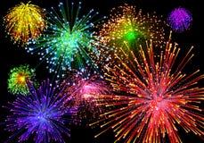 Celebratory firework. In dark sky Stock Image