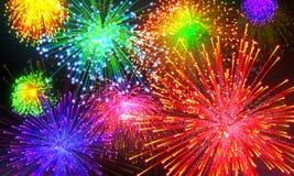 Celebratory firework. In dark sky Royalty Free Stock Photo