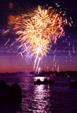 Celebratory firework royalty free stock image