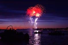 Celebratory firework Stock Images