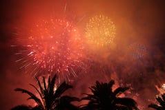 Celebratory fireworks stock images