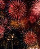 Celebratory fireworks Stock Photo