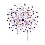 Celebratory fireworks on a white background. Vector illustration. Celebratory fireworks on a white background. Vector illustration Stock Photos