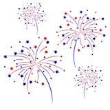 Celebratory fireworks on a white background. Vector illustration. Celebratory fireworks on a white background. Vector illustration Royalty Free Stock Photo