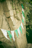 Celebratory flags. Celebratory garland from small flags Royalty Free Stock Image