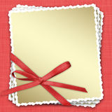 Celebratory frames with a bow and ribbons Royalty Free Stock Images