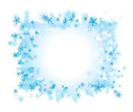 Celebratory framework. A border decorated by a frosty pattern Royalty Free Stock Images