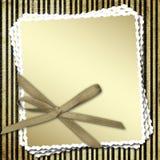 Celebratory framework with a bow Stock Photos