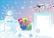 celebratory gåvor dess vinter Arkivbild